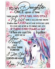 Unicorn To My Daughter Once Upon A Time 16x24 Poster front