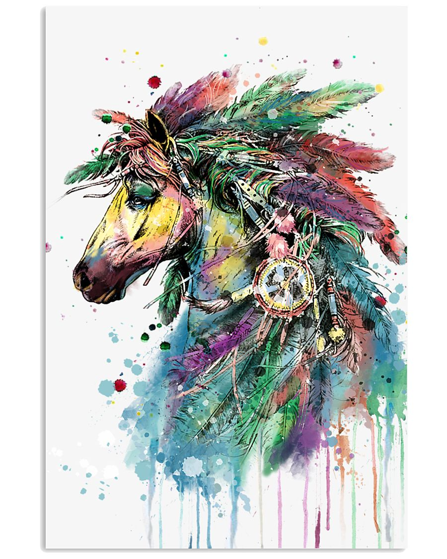 Horse Water Color 16x24 Poster
