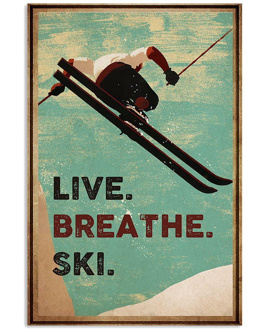 Live Breathe Ski 16x24 Poster