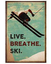 Live Breathe Ski 16x24 Poster front