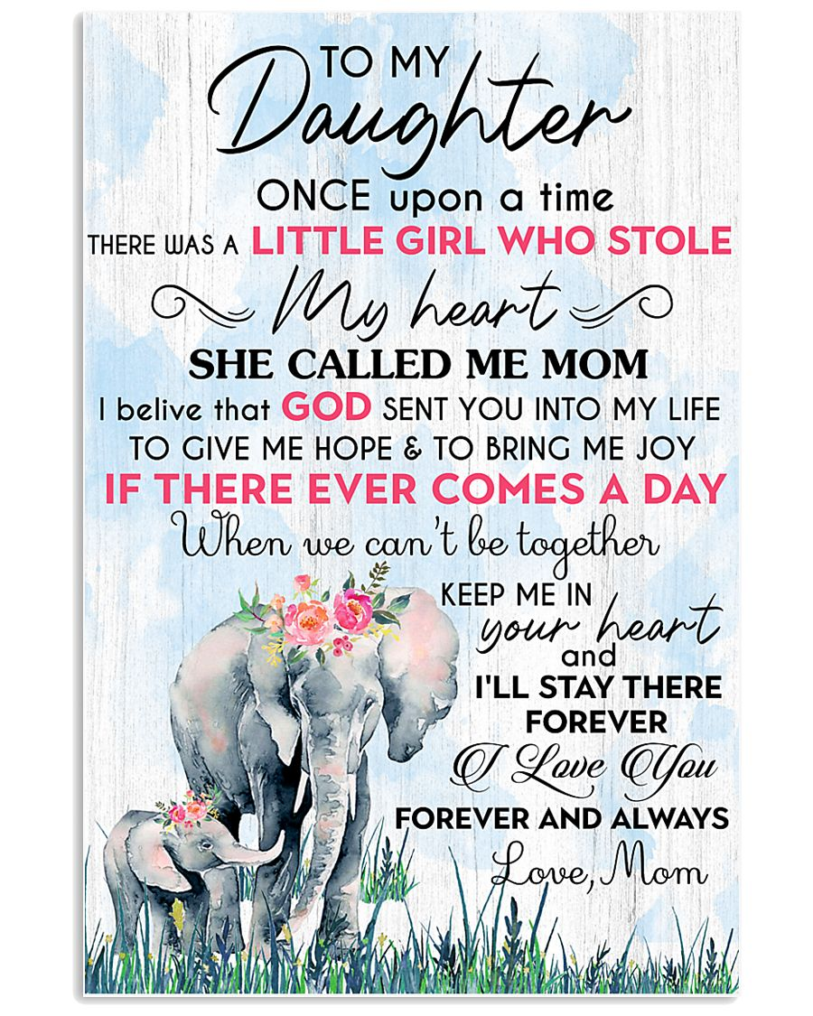 Baby elephant To My Daughter Once Upon A TIme 11x17 Poster