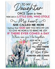 Baby elephant To My Daughter Once Upon A TIme 11x17 Poster front