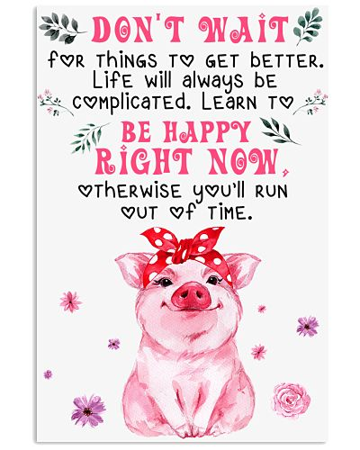 Pig Dont' Wait For Things To Get Better