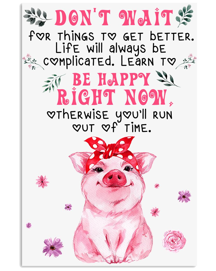 Pig Dont' Wait For Things To Get Better 16x24 Poster