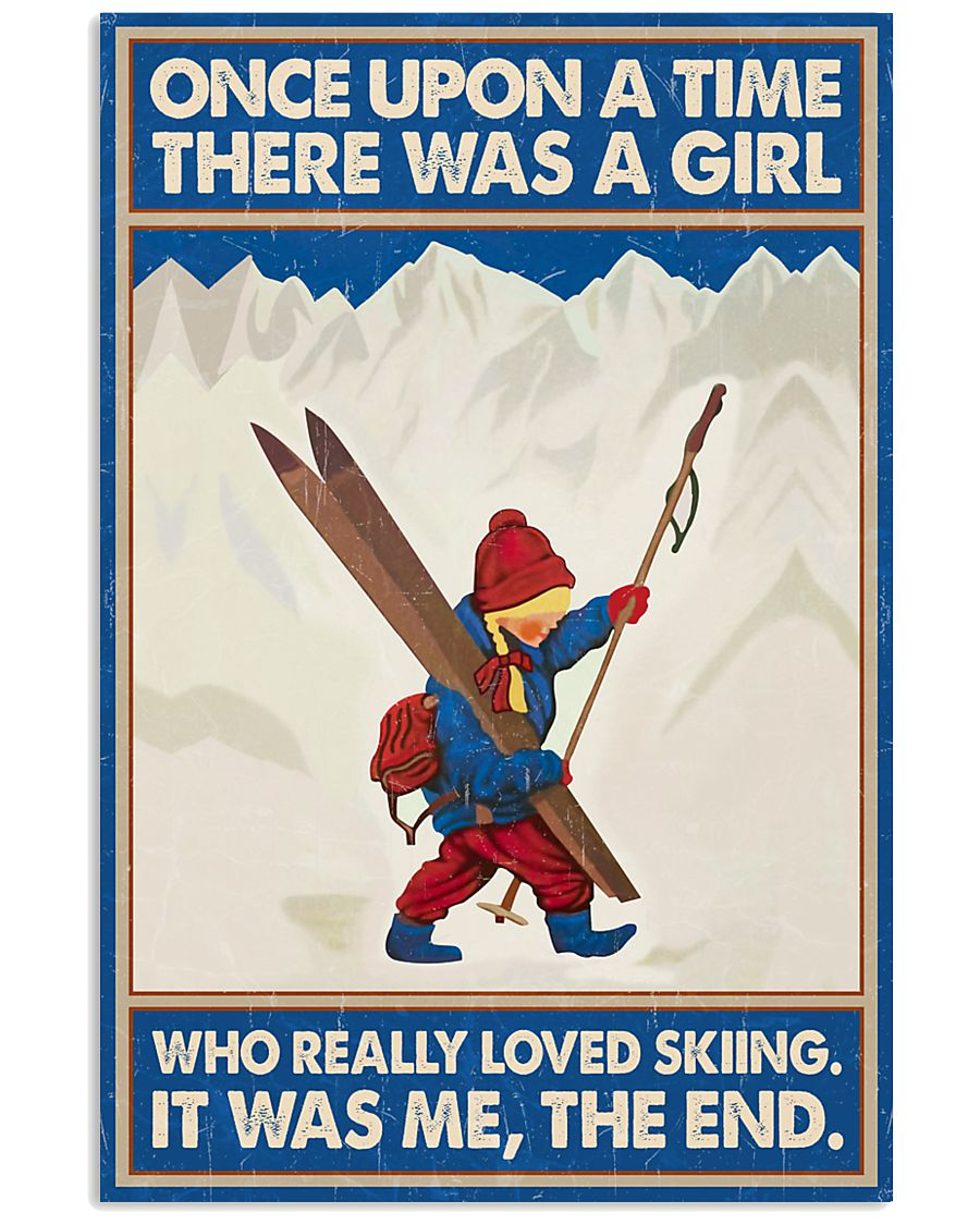 Skiing Once upon a time 16x24 Poster