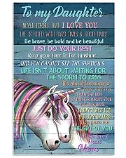Unicorn To My Daughter Never Forget That I Love  16x24 Poster front