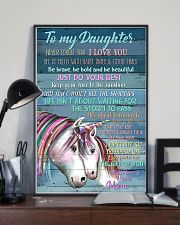 Unicorn To My Daughter Never Forget That I Love  16x24 Poster lifestyle-poster-2