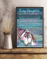 Unicorn To My Daughter Never Forget That I Love  16x24 Poster lifestyle-poster-3