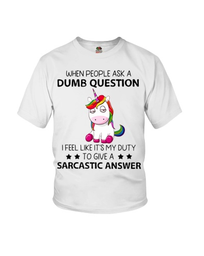 Unicorn When people ask a dumb question
