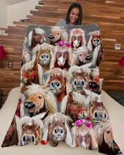 "Horse Mini Horse baby horse ranch Large Fleece Blanket - 60"" x 80"" aos-coral-fleece-blanket-60x80-lifestyle-front-04"