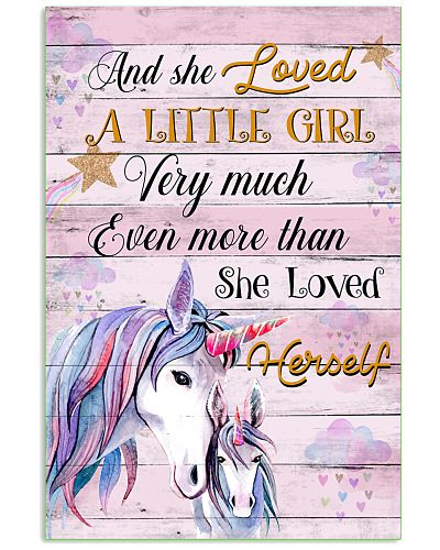 Unicorn And She Loved A Little Girl