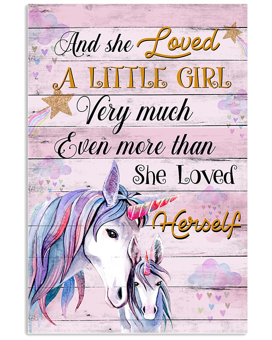 Unicorn And She Loved A Little Girl 16x24 Poster