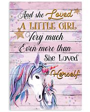 Unicorn And She Loved A Little Girl 16x24 Poster front