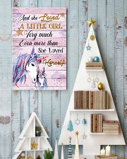 Unicorn And She Loved A Little Girl 16x24 Poster lifestyle-holiday-poster-2