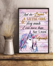 Unicorn And She Loved A Little Girl 16x24 Poster lifestyle-poster-3