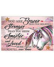 Unicorn You Are Braver 24x16 Poster front
