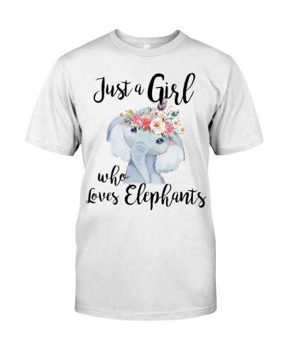 Elephant Just A Girl Who Loves Elephants