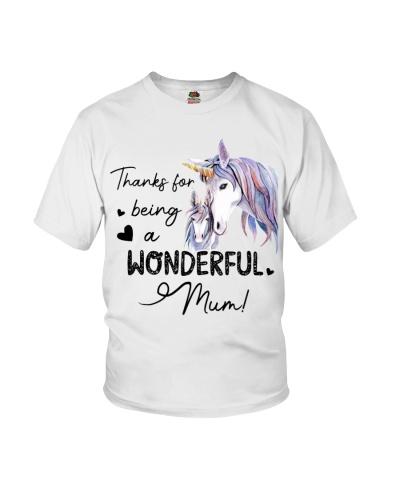 Unicorn Thanks FOr Being A Wonderful Mum
