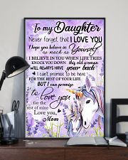 Unicorn To My Daughter Never  16x24 Poster lifestyle-poster-2
