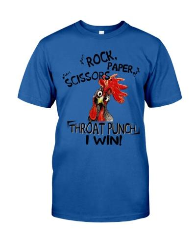 Chicken Rock Paper Scissors Throat Punch Funny