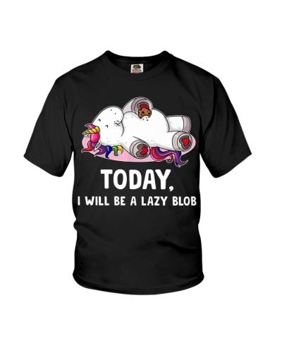 Unicorn Today I Will Be A Lazy Blob