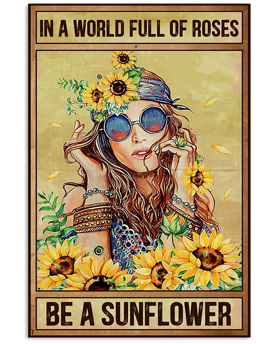 Hippie In A World Full Of Roses  16x24 Poster