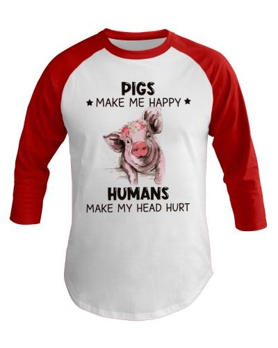 Pig Pigs Make Me Happy Humans Make My Head Hurt