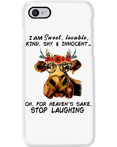 Cow I am sweet loveable kind shy and innocent  Tee