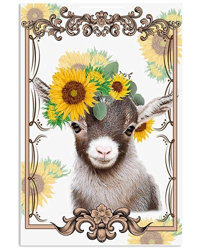 Goat Sunflower Face