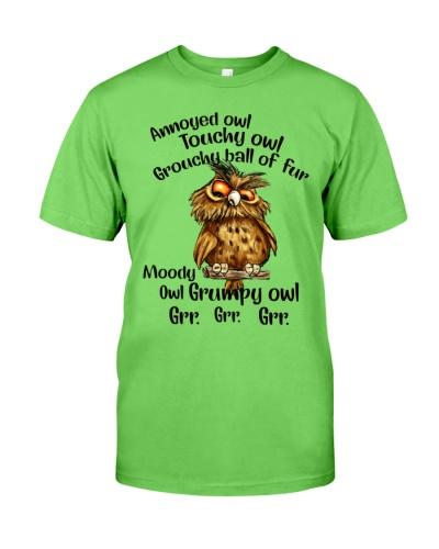 Owl Annoyed Owl Touchy Owl