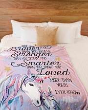 """Baby Unicorn You are braver  Nursery Blanket Large Fleece Blanket - 60"""" x 80"""" aos-coral-fleece-blanket-60x80-lifestyle-front-02"""