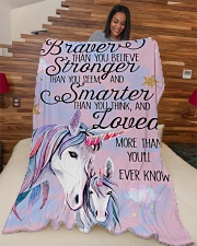 """Baby Unicorn You are braver  Nursery Blanket Large Fleece Blanket - 60"""" x 80"""" aos-coral-fleece-blanket-60x80-lifestyle-front-04"""