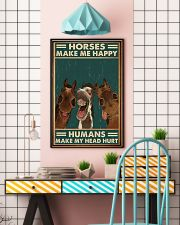 Horse Horse Make Me Happy  16x24 Poster lifestyle-poster-6