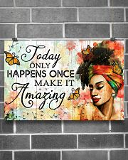 Afro Today only happens once 24x16 Poster poster-landscape-24x16-lifestyle-19