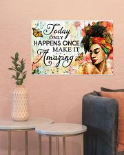 Afro Today only happens once 24x16 Poster poster-landscape-24x16-lifestyle-22