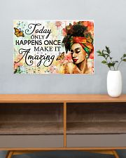 Afro Today only happens once 24x16 Poster poster-landscape-24x16-lifestyle-25