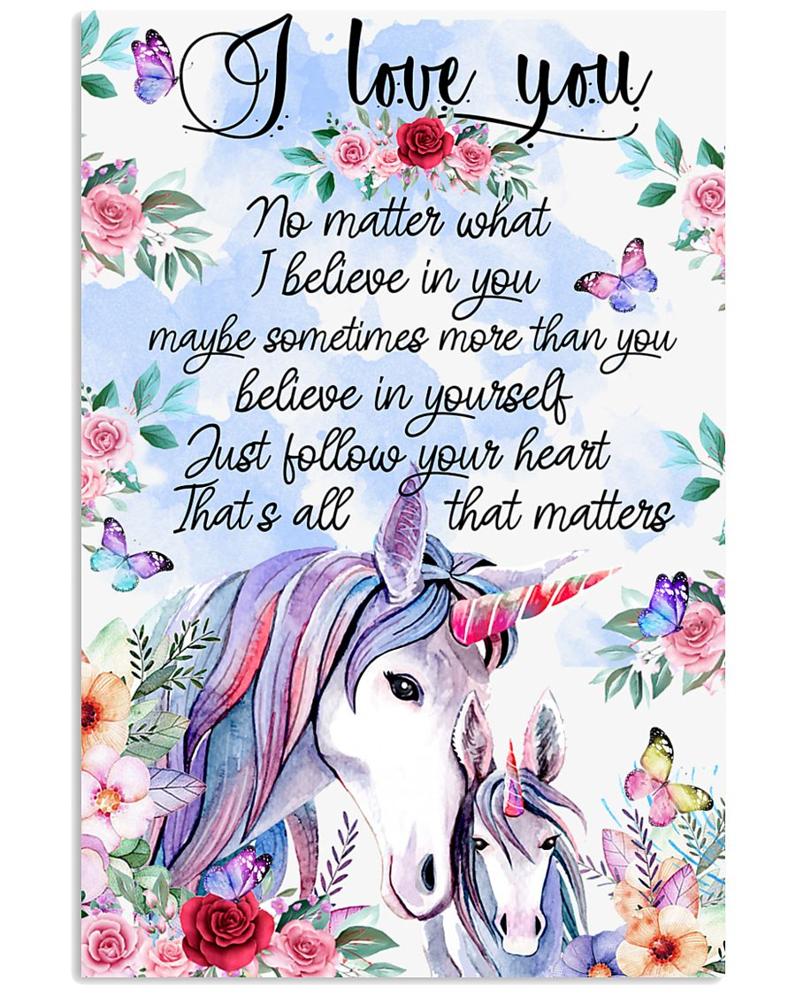 Baby Unicorn You are braver  Nursery Blanket 11x17 Poster