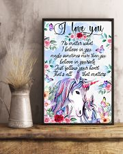 Baby Unicorn You are braver  Nursery Blanket 11x17 Poster lifestyle-poster-3