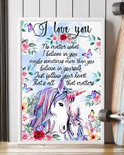 Baby Unicorn You are braver  Nursery Blanket 11x17 Poster lifestyle-poster-4