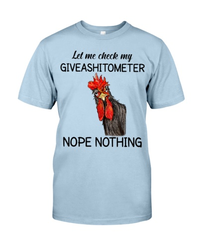 Chicken Let Me Check My Giveashitometer