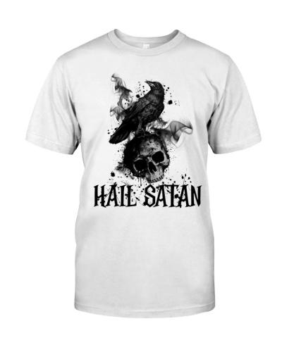 Raven Skull Hail Satan