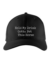 Horse Hold my drink Gotta pet this horse Embroidered Hat front