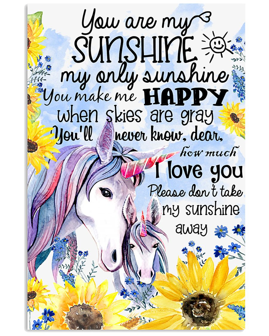 Baby Unicorn You are braver  Nursery Poster 11x17 Poster