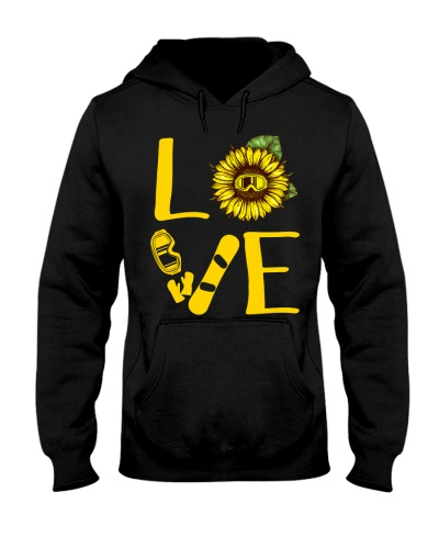 Snowboarding Love Sunflower