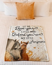 """Baby Horse No matter how much i say i love you Small Fleece Blanket - 30"""" x 40"""" aos-coral-fleece-blanket-30x40-lifestyle-front-04"""