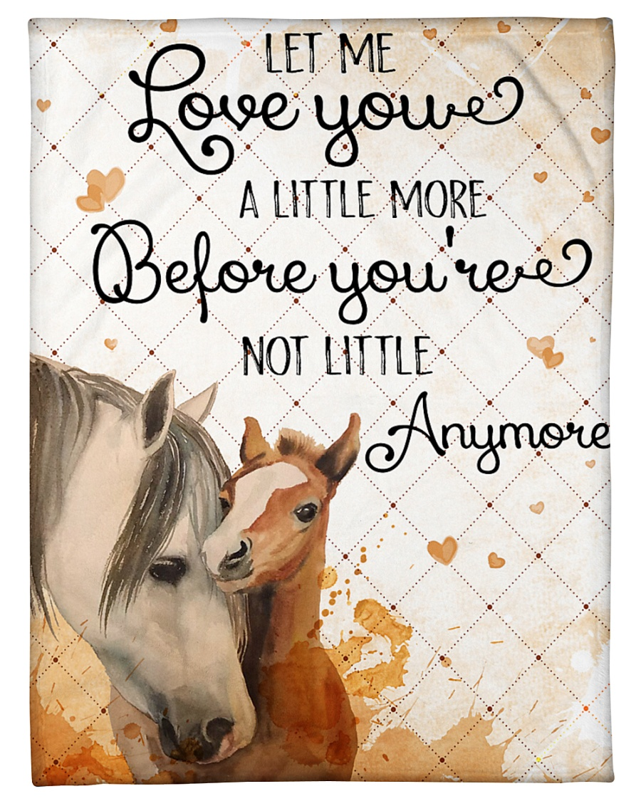 """Baby Horse No matter how much i say i love you Small Fleece Blanket - 30"""" x 40"""""""