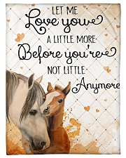 """Baby Horse No matter how much i say i love you Small Fleece Blanket - 30"""" x 40"""" front"""