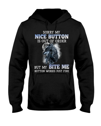 Wolf Sorry My Nice Button