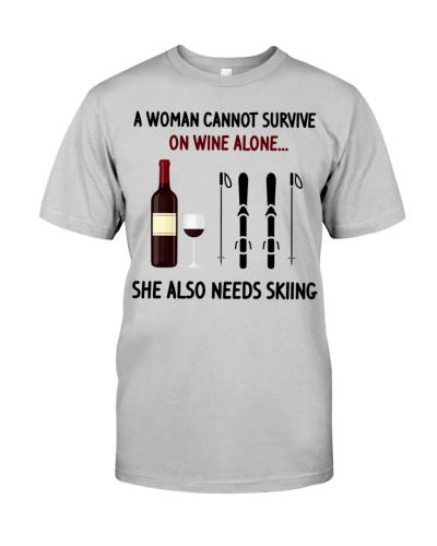 Skiing A woman cannot survive on wine alone