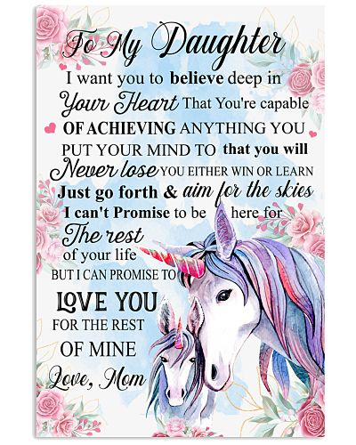 Baby Unicorn To My Daughter I Want You To Believe